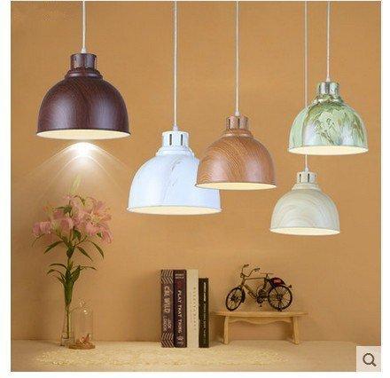RBB Personalisierte dekorative Beleuchtung Minimalistische Aluminium Single Head Lampe (30cm),Single Head Teak Farbe