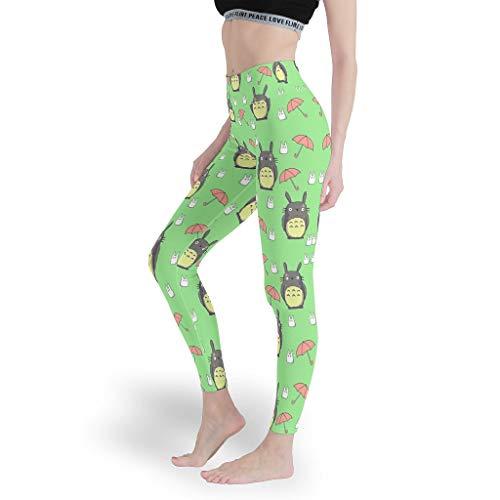 Mädchen Sport Leggings Bauchkontrolle Yoga Hosen Superweich Capris Tights für Workout White 4XL