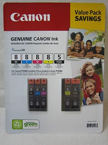 Canon Ink Value Pack: Pgi-5 Black; Cli-i8 Black Cyan Magenta Yellow