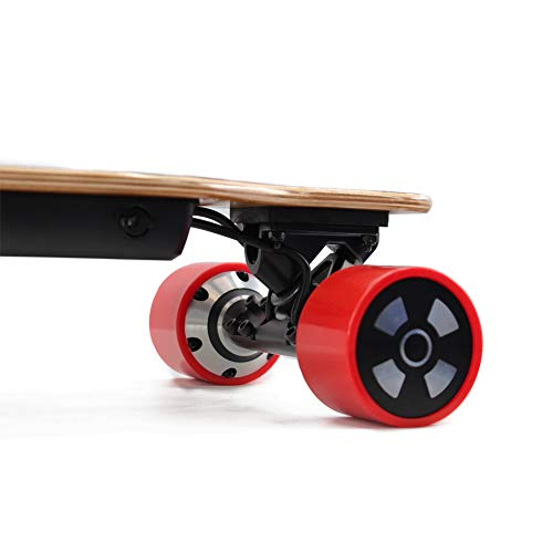 Alouette Phoenix Ryders Electric Skateboard Longboard 16 MPH Top Speed,14 Miles Range,Dual Motors, 32 Inches Maple with Remote Control