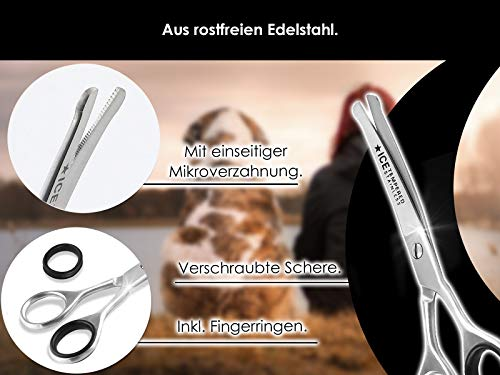 Fur scissors, paw scissors, bent, dogs hair, with micro-toothing 3