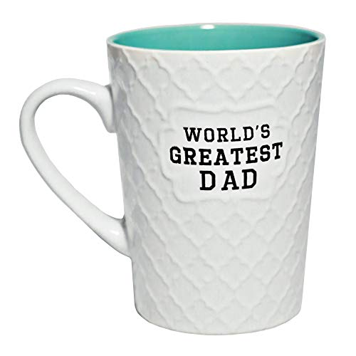Ynsfree World's Greatest Dad 16 OZ Coffee And Tea Cups-For dad,hubby,Valentine's Day,Anniversary,Birthday Funny Father's Day Mugs(green)