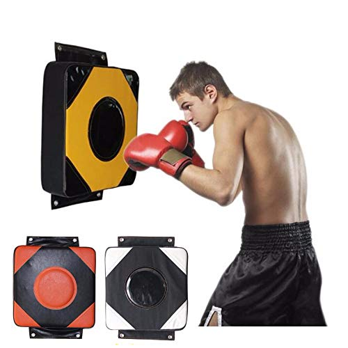 CARACHOME Wall Punch Pad, Wall Mounted Punch Bag Large 40X40 CM Square Foam Boxing Bag Fighting Pad Kick Shield for Workout Fitness Fighting MMA Muay Thai,Black