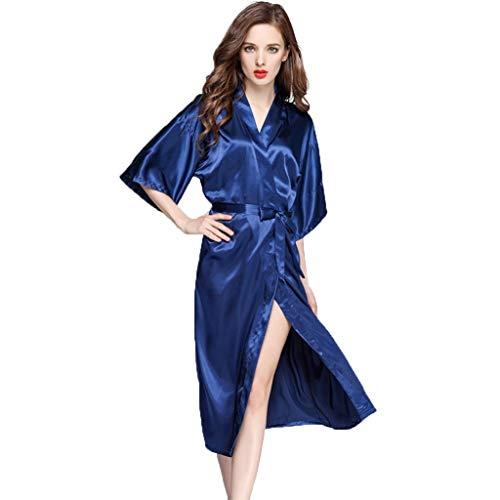 Kimono Robes For Women, Women's Badjas Zijde Satijn Robe Badjas Bruidsmeisje Nachtkleding Pyjama Lange Badjassen Robe Huwelijk Bruids Nachthemd Nachtkleding Night Robe