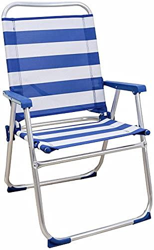 Silla Playera, 89 x 47 x 55CM, Silla de Playa Portátil, Plegable,...