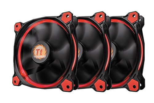 Thermaltake Riing 12 High Static Pressure Circular Ring Red LED...