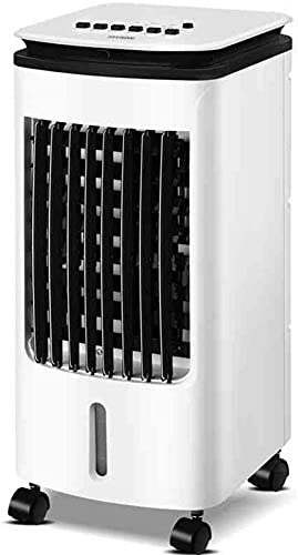ZJDM Ventilatori a Colonna Evaportive Cooler, Telecomando 3 modalità 3 velocità con Ruote mobili per Uso Domestico o in Ufficio Condizionatore d Aria Portatile da Esterno 70 W a Bassa rumorosità