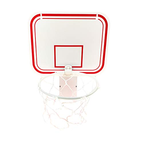 """Sports Linque TaktZeit Office Basketball Hoop Clip for Trash Can Basketball Game Small Basketball Board Clip for Waste Basket in Restroom Bed Room Bathroom and Office (White, 6.3"""" x 7.9"""")"""