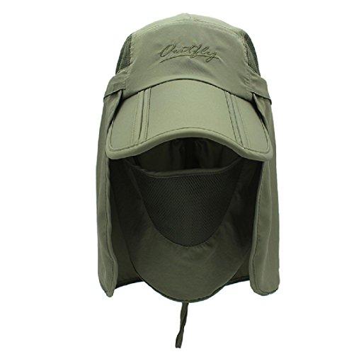 LLmoway Kids Sun Protection Hat Lightweight Mesh Flap Cap Quick Dry Detachable