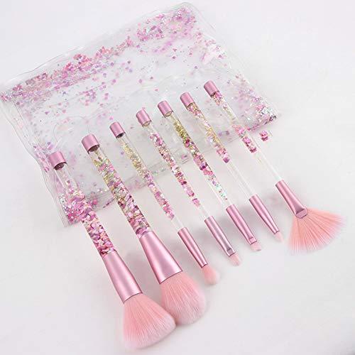 Cristal Poignée Brosse De Maquillage 7 Pcs Outils De Beauté Modification Quotidienne Du Visage Pinceau Blush Poudre Libre
