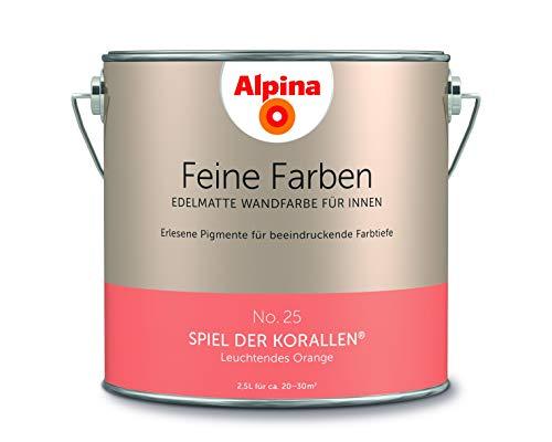 Alpina 2,5 L. Feine Farben, Farbwahl, Edelmatte Wandfarbe für Innen (No.25 Spiel der Korallen - Leuc