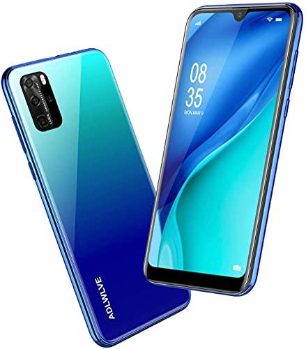 Teléfono Móvil Libres, 6,3 Pulgadas Android 9.0 Smartphone Libre 4G, 32GB ROM+3GB RAM,Moviles Libres Baratos Dual SIM, 8MP+ 5MP, Face ID GPS/WiFi/Hotspot Móviles y Smartphone Baratos Libres-Azul