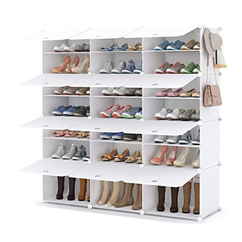 Homidec, scarpiera a 7 livelli, in plastica, per armadio, corridoio, camera da letto, ingresso (3S)