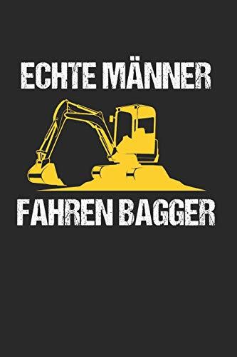 Echte Männer Fahren Bagger: Sachsen & Ossi DDR Notizbuch 6'x9' Kalender Geschenk für Ostalgie & Sächsisch