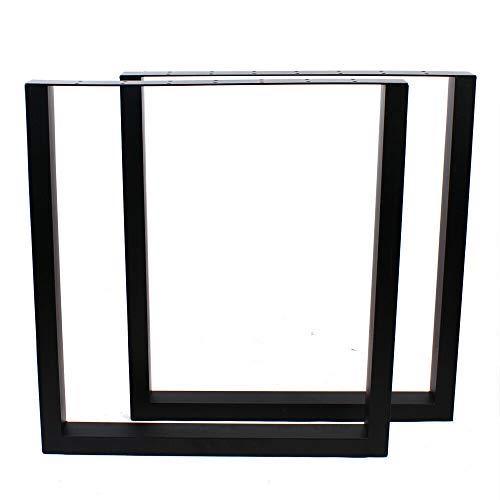 Juego de 2 patas de mesa de acero para muebles, diseño industrial, color negro, 72 x 66 cm