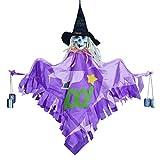 Persiverney Adorno Colgante de Bruja de Halloween, decoración de Pared de Bruja de Calavera de Horror de Halloween con Campanas de Viento, casa embrujada o Bar Improvement Successful Reliable