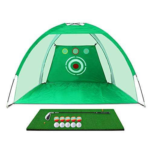 ZJMK Tappetino da Golf Set da Golf per Bambini Adulti, Attrezzatura Portatile per L'allenamento del Golf con Pacchetti Target, Allenamento...