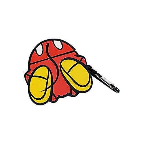 Lekker Cartoon Patroon Zachte Siliconen Beschermende Cover Schokbestendige Case Huid met Karabijnhaak voor Airpods 1/2 Opladen Doos Accessoires