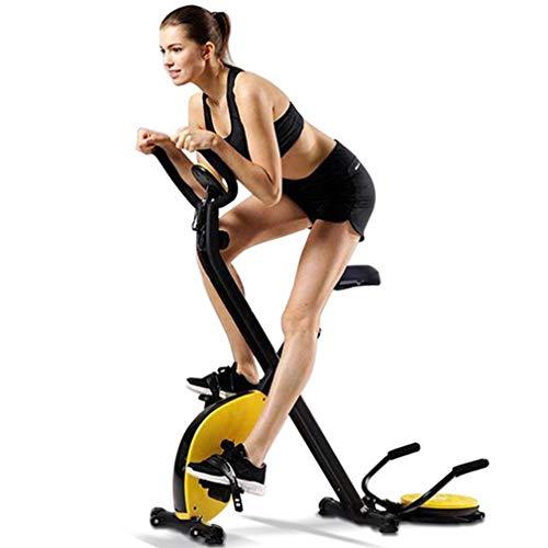 HAIJIN Klapp-Heimtrainer 3 in 1 Liegestütz | Taillenplatte | Schritt/Laufband, leise und komfortabel, stationäres Indoor-Cycling für das Heimtraining mit verstellbarem Sitz