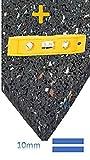 Antivibrationsmatte aus Gummigranulaten, 60x60x1cm Universell einsetzbar als Waschmaschinen-Unterlage, Gummimatte, Bodenschutzmatte, Vibrationsdämpfende Waschmaschinen-Matte, Bodenmatte