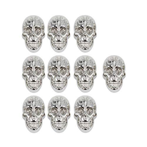 SUPVOX 10 Piezas Punk Calavera Remache Remaches de Piel Tachuelas de Metal para Correa de Piel Bricolaje Ropa cinturón Zapato Bolso Collar Accesorios (Dorado)