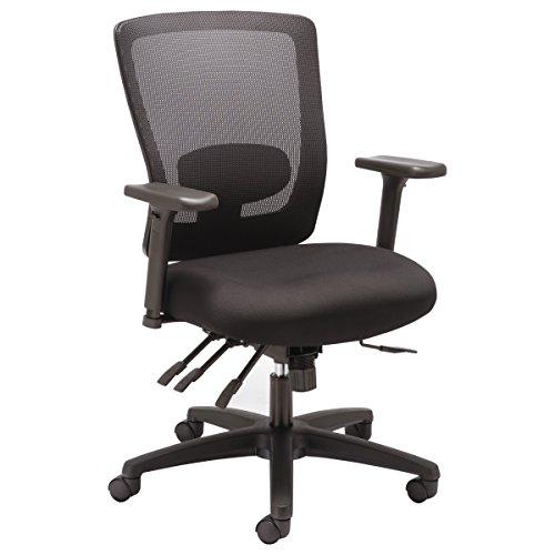 Alera ALE Envy Series Mesh Mid-Back Multifunction Chair, Black