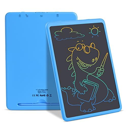 Tableta de escritura y escritura electrónica con pantalla LCD de 11 pulgadas, borrable y reutilizable, para niños y adultos, en casa, en la escuela, en la oficina (azul)