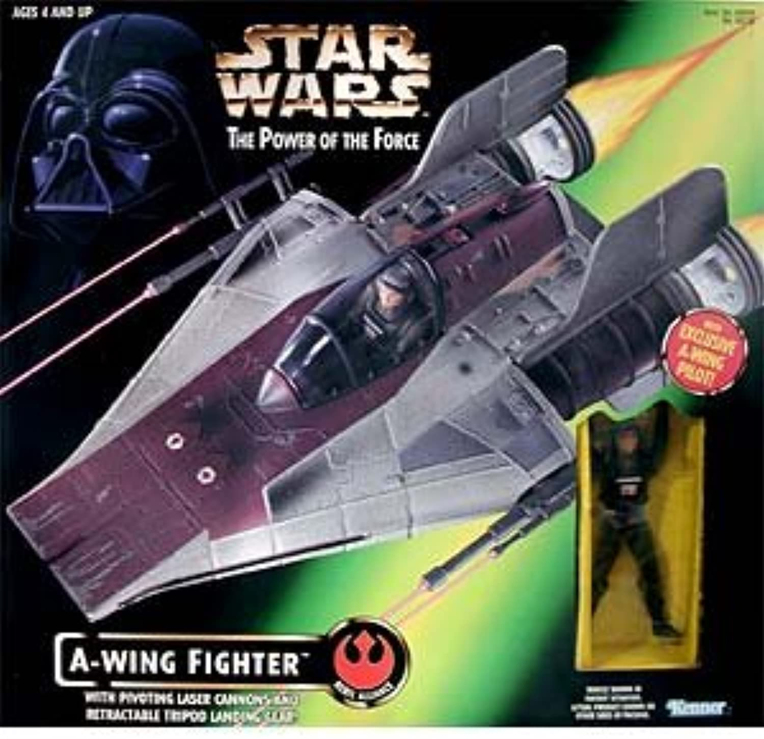 Star Wars  Power of the Force AWing Fighter with Pilot Vehicle
