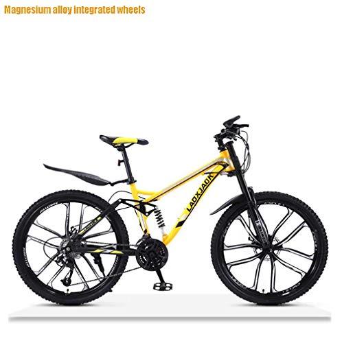 AISHFP Bicicleta de montaña de Descenso Todo Terreno para Hombre, Bicicletas de Nieve para Adultos con Doble Freno de Disco, Bicicleta de Playa, Ruedas de 26 Pulgadas
