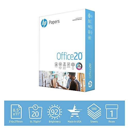 HP Druckerpapier 8,5 x 11 Office 9,1 kg 1 Ries 500 Blatt 92 hell Made in USA FSC zertifiziertes Kopierpapier HP kompatibel 172160R