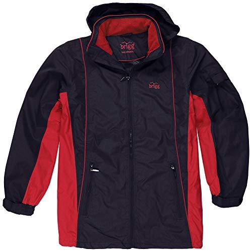 Brigg Blau-rote Outdoor-Jacke Herren in Übergrößen bis 14XL, Größe:14XL
