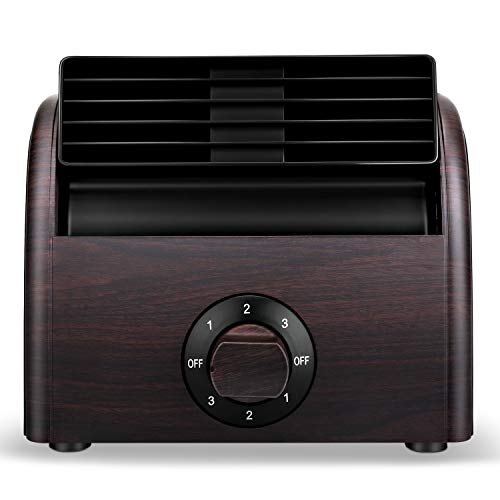 Desk Fan Mini Classic Personal Vintage Air Circulator Fan Table Cooling Turbo Fan for Home Office AC Powered