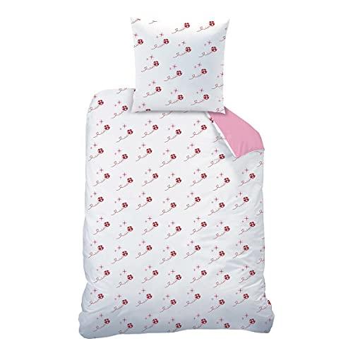 CTI Miraculous Ladybug Shadow - Juego de cama de franela (1 funda nórdica de 135 x 200 cm y 1 funda...