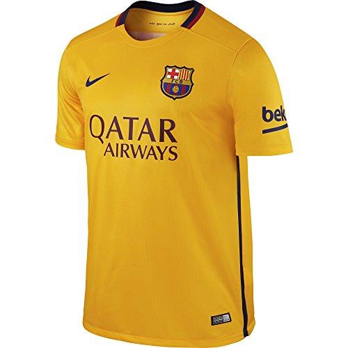 Nike Herren FCB M SS Away Stadium JSY Auswärtstrikot Fc Barcelona 2015/2016, Gold/Blau, S