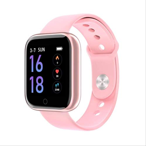 Vrouwen Waterdicht Smart Watch Bluetooth Smartwatch Voor Ios Android Iphone Hartslagmeter Fitness Tracker Silica Gel Pink
