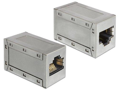 DeLOCK 86165 adaptador de cable RJ45 Metálico - Adaptador para cable (RJ45, RJ45, Female connector/Female connector, Metálico)