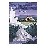 ZHBIN Vintage-Reise-Poster Yellowstone National Park Old