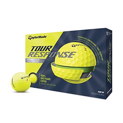TaylorMade Golf Tour Response Balles de Golf pour Hommes Yellow 1 Douzaine