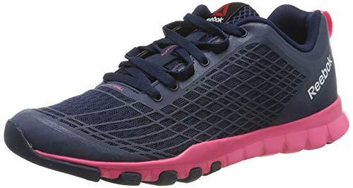 Reebok Everchill Train, Chaussures de Fitness Femme, Multicolore (Collegiate Navy Solar Pink White), 37 EU