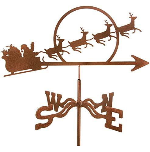 FHTD Tempo Durevole in Acciaio Inox Durevole in Acciaio Inox retrò weatheane Creativo da Giardino in Acciaio Inossidabile Weathercock Vento Chime per Il Tetto della Decorazione del Giardino,Elk carts