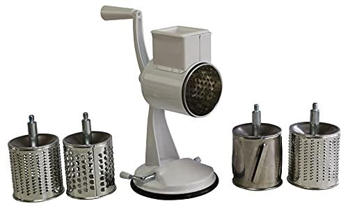 Reibemaschine Kartoffelreibe mit 5 Trommeln u. Saugfuß