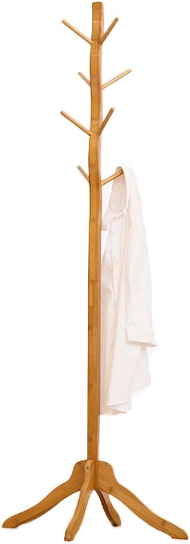 GFL Solid Wood Coat Rack Floor Home Living Room Bedroom Hanger (Size   60cm×171.5cm)