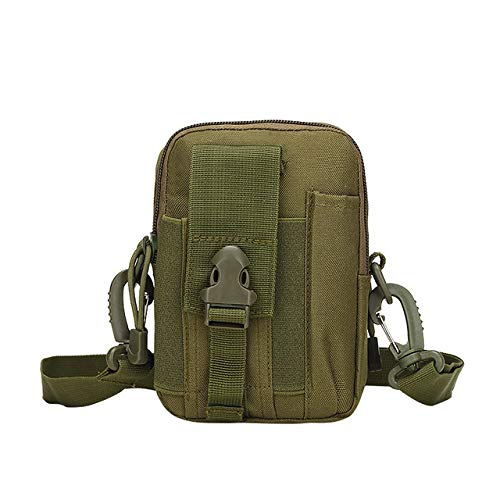 YYMMQQ Zaino da Esterno,Outdoor Camping Bag Tactical Molle Backpacks Pouch Belt Military Waist Backpack Sport Running Pouch Travel Shoulder Bags,Army