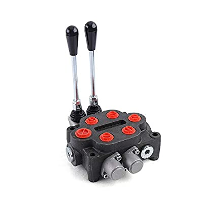 Hydraulic Directional Control Valve 2 Spool 25GPM 3000PSI Monoblock Double Acting Hydraulic Directional Control Valve Monoblock Construction, 1-5 Levers by HOAGIA