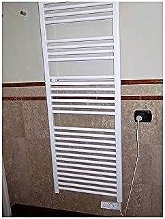 Radiador Toallero h1703X L550calentador eléctrico blanco con termostato