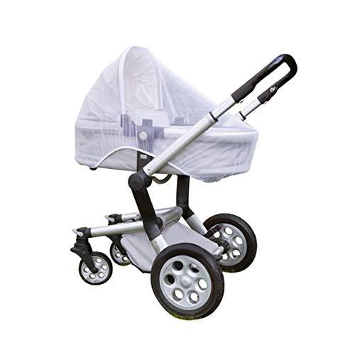 Quantio Moskitonetz - optimaler Schutz vor Insekten - 90 x 140 cm (BxL), Polyester, weiß, geeignet für Kinderwagen, Tragebetten und Buggys - Verschiedene Mengen wählbar, Stückzahl:1 Stück