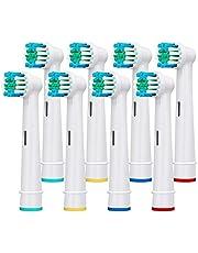 8-pack utbytbara tandborsthuvuden precisionsrena borsthuvuden för brun och oral B elektriska laddningsbara tandborstar