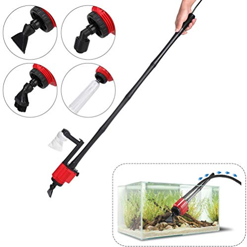 Aquarium-Kies reiniger 28 W 220 V 1800 l/u pomp voor het reinigen van de waterwisselaar, automatische filter, voor het reinigen van vissen