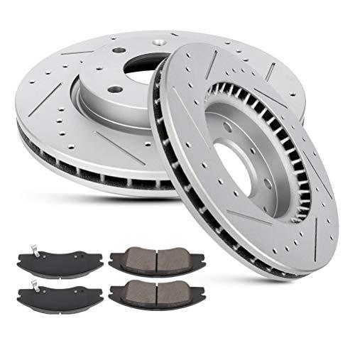 LSAILON – Rotores de freno ranurados perforados para Kia Spectra 2004-2009, 2005-2009 Kia Spectra5