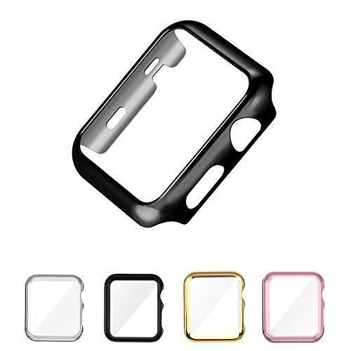 Capa Protetora de Acrílico com Borda para Apple Watch 38mm Series 2 e 3 - Marca Ltimports (Preto)